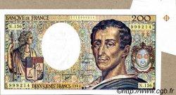 200 Francs MONTESQUIEU modifié FRANCE  1994 F.70/2.01 SPL