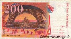 200 Francs EIFFEL FRANCE  1996 F.75ter.01 TB+ à TTB