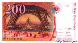 200 Francs EIFFEL sans STRAP FRANCE  1996 F.75bis.02 SPL