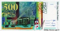 500 Francs PIERRE ET MARIE CURIE FRANCE  1996 F.76.03 SPL+