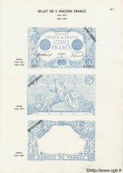 Planche 5 Francs Bleu et 5 Francs Noir FRANCE  1916 F.02 NEUF