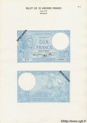 Planche 10 Francs MINERVE modifié FRANCE  1940 F.07 NEUF