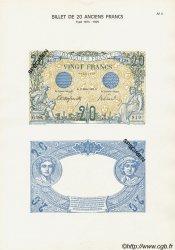 Planche 20 Francs BLEU FRANCE  1906 F.10 NEUF
