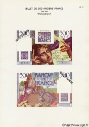 Planche 500 Francs CHATEAUBRIAND FRANCE  1947 F.34 NEUF