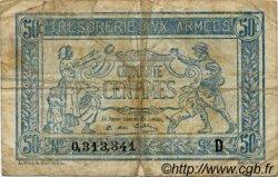 50 Centimes TRÉSORERIE AUX ARMÉES FRANCE  1917 VF.01.04 B à TB