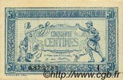50 Centimes TRÉSORERIE AUX ARMÉES FRANCE  1917 VF.01.09 SUP