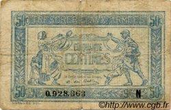 50 Centimes TRÉSORERIE AUX ARMÉES FRANCE  1917 VF.01.14 B à TB