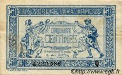 50 Centimes TRÉSORERIE AUX ARMÉES FRANCE  1917 VF.01.17