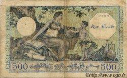 500 Francs ALGÉRIE SURCHARGÉ FRANCE  1943 VF.09.01 TB