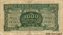 1000 Francs MARIANNE chiffres maigres FRANCE  1945 VF.13.02 TB+