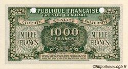 1000 Francs MARIANNE chiffres maigres FRANCE  1945 VF.13.02 NEUF