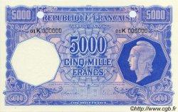5000 Francs MARIANNE NON ÉMIS FRANCE  1945 VF.14.02 NEUF