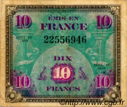 10 Francs DRAPEAU FRANCE  1944 VF.18.01 TB