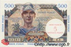 5 NF sur 500 Francs TRÉSOR PUBLIC FRANCE  1960 VF.37.01 NEUF