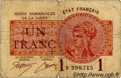 1 Franc FRANCE  1920 VF.51.01 B+