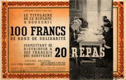 100 Francs - 20 Repas FRANCE régionalisme et divers  1941 KL.01 pr.SUP