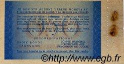 50 Centimes BON DE SOLIDARITÉ FRANCE régionalisme et divers  1941 KL.01A SUP