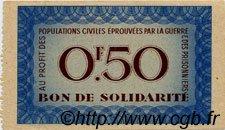 50 Centimes BON DE SOLIDARITÉ FRANCE régionalisme et divers  1941 KL.01A SPL