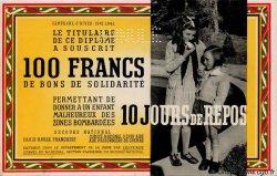 100 Francs - 10 Jours de repos FRANCE régionalisme et divers  1941 KL.03 SPL