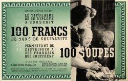 100 Francs - 100 Soupes FRANCE régionalisme et divers  1941 KL.04 pr.NEUF