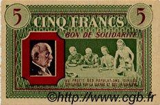 5 Francs BON DE SOLIDARITÉ FRANCE régionalisme et divers  1941 KL.05B pr.NEUF