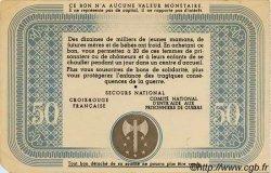 50 Francs BON DE SOLIDARITÉ FRANCE régionalisme et divers  1941 KL.09A1 SUP