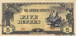 5 Rupees BIRMANIE  1942 P.15b SUP