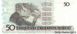50 Cruzeiros sur 50 Cruzados Novos BRÉSIL  1990 P.223 NEUF