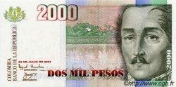 2000 Pesos COLOMBIE  2001 P.451 NEUF