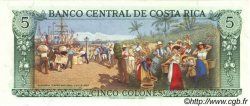 5 Colones COSTA RICA  1989 P.236d NEUF