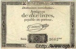 10 Livres FRANCE  1792 Laf.161a TTB