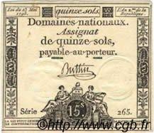 15 Sols FRANCE  1793 Laf.166 SUP