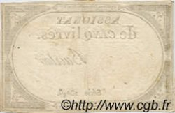 5 Livres FRANCE  1793 Laf.171 B à TB