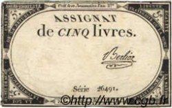 5 Livres FRANCE  1793 Laf.171 TTB