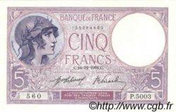 5 Francs VIOLET FRANCE  1918 F.03.02 SPL