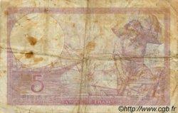 5 Francs VIOLET modifié FRANCE  1939 F.04 B+ à TB