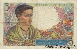 5 Francs BERGER FRANCE  1943 F.05 TTB