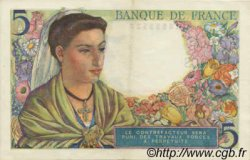 5 Francs BERGER FRANCE  1943 F.05 SUP