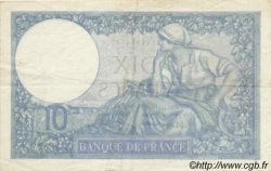 10 Francs MINERVE modifié FRANCE  1939 F.07 TTB