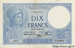 10 Francs MINERVE modifié FRANCE  1939 F.07 TTB+