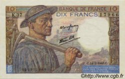10 Francs MINEUR FRANCE  1941 F.08 SUP