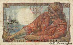 20 Francs PÊCHEUR FRANCE  1942 F.13 B à TB