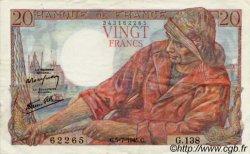 20 Francs PÊCHEUR FRANCE  1942 F.13 TTB