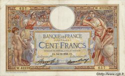 100 Francs LUC OLIVIER MERSON grands cartouches FRANCE  1923 F.24 TTB