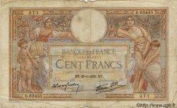 100 Francs LUC OLIVIER MERSON type modifié FRANCE  1937 F.25 B