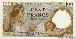 100 Francs SULLY FRANCE  1941 F.26.58 NEUF