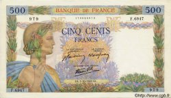 500 Francs LA PAIX FRANCE  1942 F.32.41 SUP