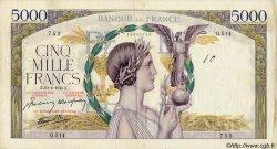 5000 Francs VICTOIRE Impression à plat FRANCE  1938 F.46 TB