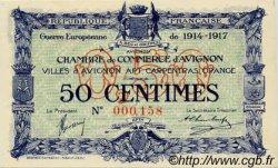 50 Centimes FRANCE régionalisme et divers AVIGNON 1915 JP.018.13 NEUF
