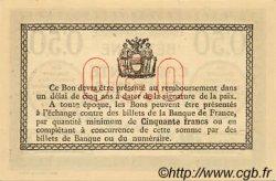 50 Centimes FRANCE régionalisme et divers Béthune 1915 JP.026.03 NEUF